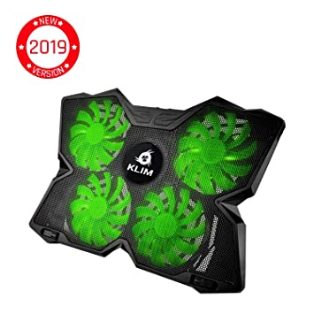 Rapid Cooling Action 4 Fans Ventilated Support Gamer Gaming Plate Support The Most Powerful Blue ⭐️KLIM Wind Laptop PC Cooler New 2019 Version