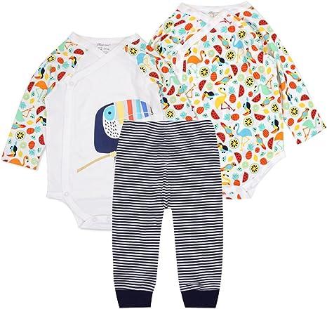 Bebé Body Manga Larga y Pantalones 3 Piezas Conjuntos de Ropa ...
