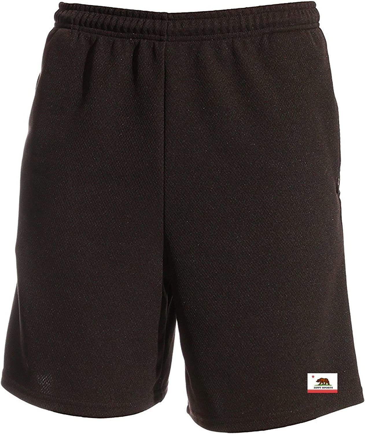 Shorts with Zipper Pockets Zip Zippered Mens and Womens Active Wear