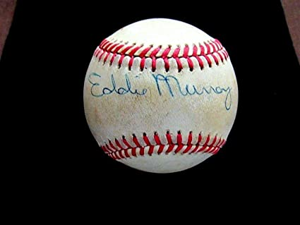 84a7679d322 Image Unavailable. Image not available for. Color  Eddie Murray Hof Orioles  Mets Signed Auto Vintage Game Used ...