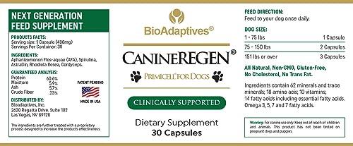 BIOADAPTIVES Canine Regen Senior Dog Regeneration- Multi Vitamins- Minerals- Immune Wellness Support