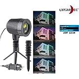 Lunartec Star Shower: Laser-Projektor, bewegter Sternen-Regen-Lichteffekt, rot & grün, IP44 (Laser Projektor Sternenhimmel)