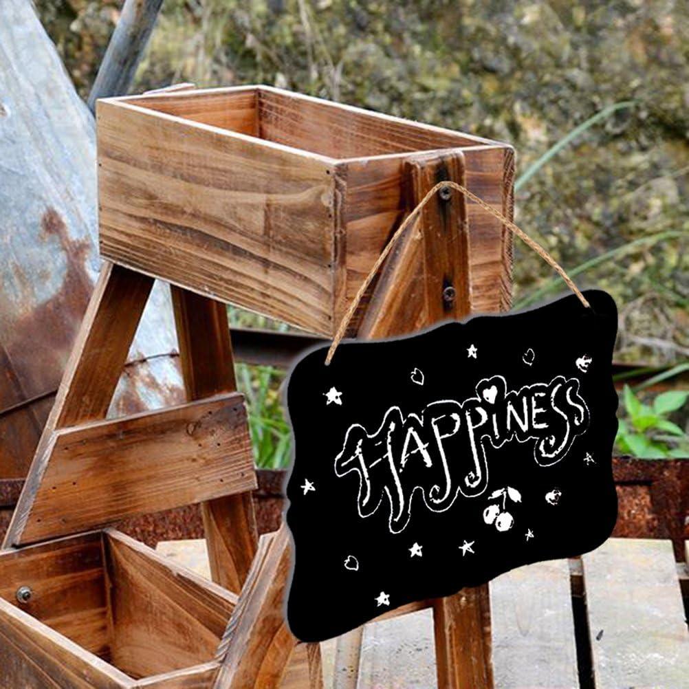 rosenice tableau Pendentif de Double face avec corde Signes du tableau d/écoration de maison de mariage