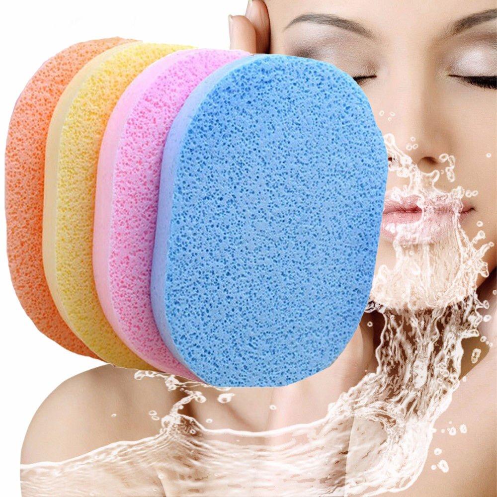 PEPECARE 4pcs Face Facial Wash Pad Makeup Remover Cleaning Sponge Puff Exfoliator Scrub
