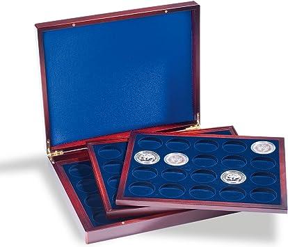 Leuchtturm 318214 Estuche para Monedas VOLTERRA Trio de Luxe, Cada una para 20 Monedas de 41 mm Ø en cáps: Amazon.es: Juguetes y juegos
