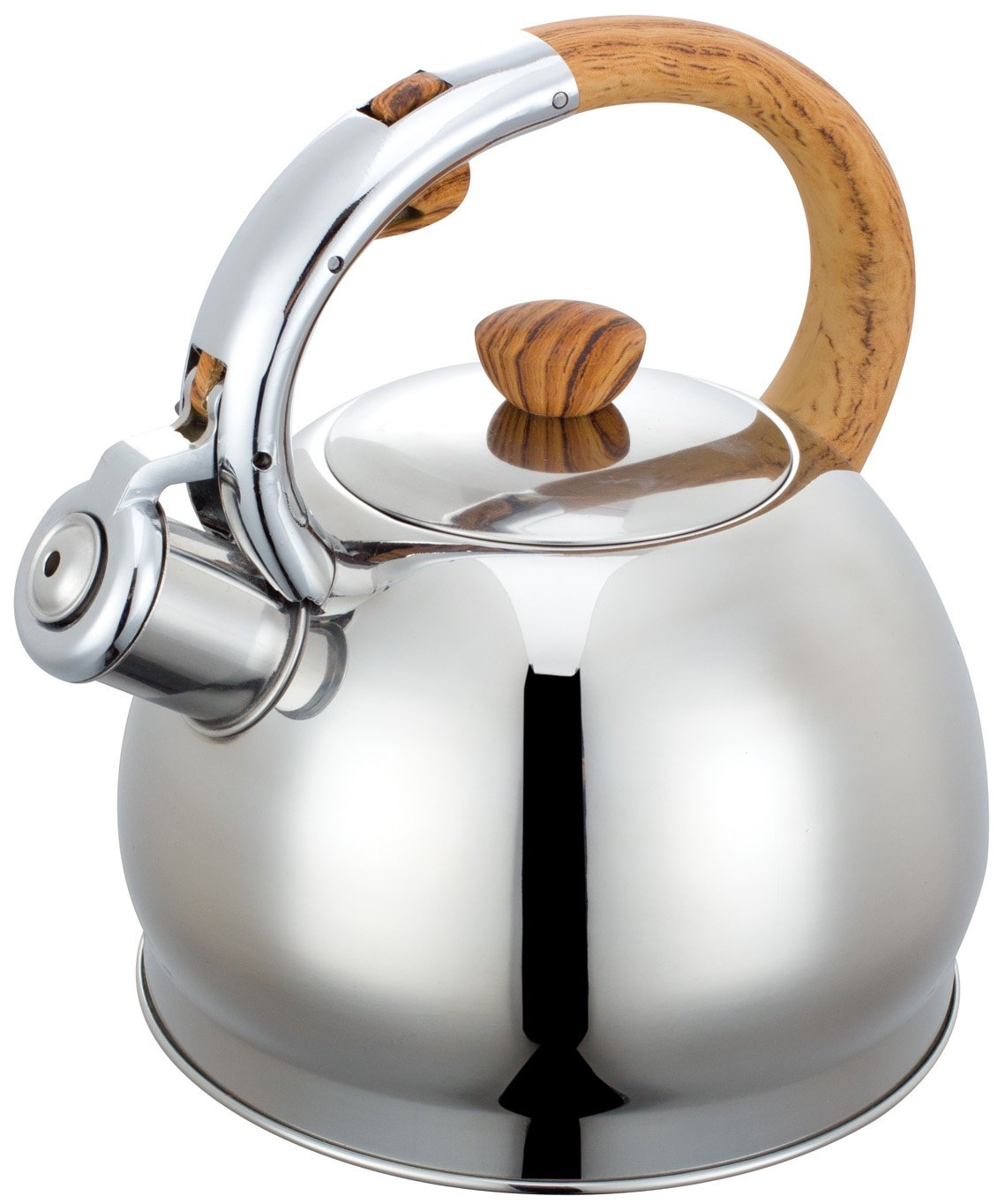2.0 Litre Whistling Kettle Tea Water Jug Stainless Steel Kinghoff