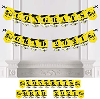 product image for Big Dot of Happiness Yellow Grad - Best is Yet to Come - Yellow Graduation Party Bunting Banner - Party Decorations - Congrats Grad 2021