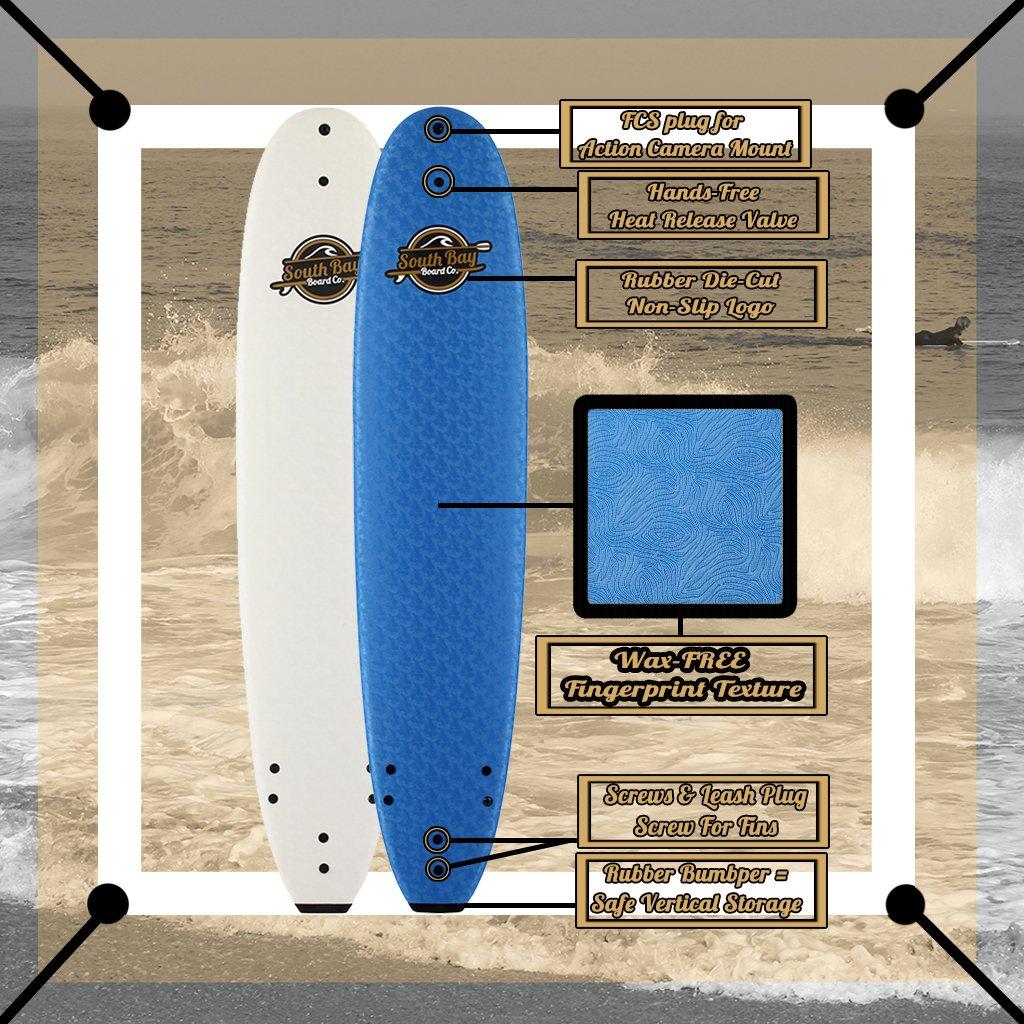 8 8 Beginner Foam Surfboard – Premium Soft Top Surfboards – The 8 8 Heritage