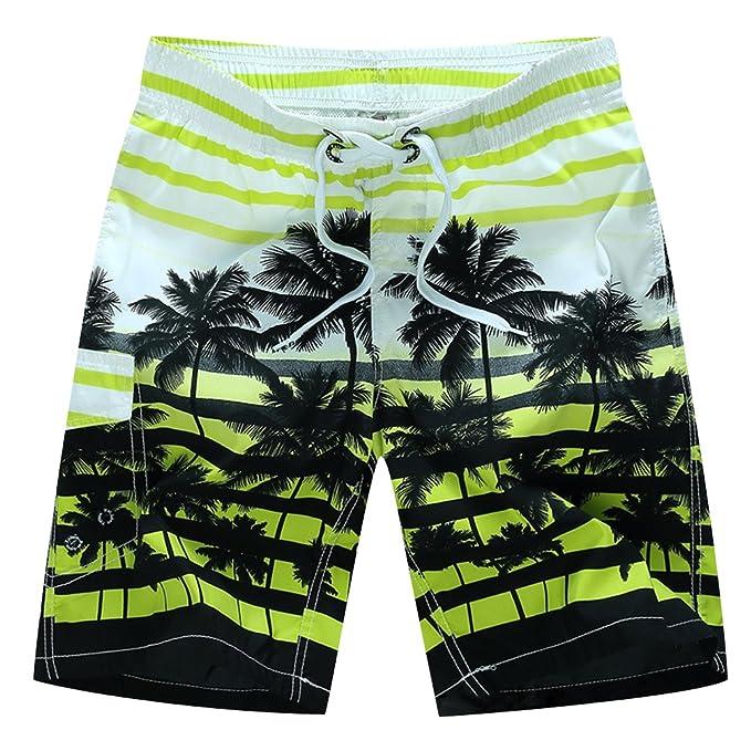 ... Playa Hombre Bañadores Surferos Estampados Rayas Pantalones Cortos Baño  Bóxers Shorts Deportivos Vintage Tallas Grandes  Amazon.es  Ropa y  accesorios 5d48d8fc68d