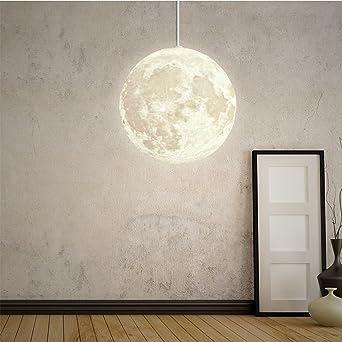 Modernes Design Pendelleuchte Kreative LED Mond Hängeleuchte Harz ...