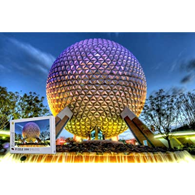 Epcot Theme Park in Bay Lake Florida 1000 Pieces Wooden Jigsaw Puzzles-Suitable for Frame: Toys & Games