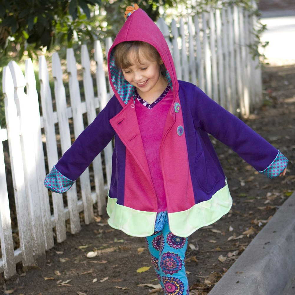 Twirly Girl Jacket for Girls 13 Pockets Purple Blue Great for Fall Made in USA by TwirlyGirl