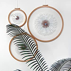 Make a Wish Dandelion Tulle Embroidery Hoop Art - Bridesmaid, Housewarming Gift - OOAK Home Wall Art Decor- Hand Embroidery Kits (Including 13 cm,17cm,20cm)