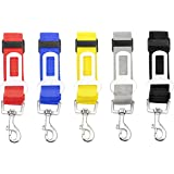 LILYS PET 5pcs Durable Adjustable Pet Car Safety Seat Belt,Vehicle Seatbelts Harness Leash For Dogs,Cats