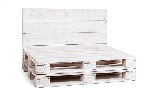 Dydaya Home Estructura de Sofá Hecha con Palets Color Blanco ...