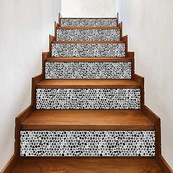 Pegatinas De Escalera 3D Azulejo Casa Escalera Pegatina Pasillo Escaleras Adhesivos Decorativos: Amazon.es: Bricolaje y herramientas