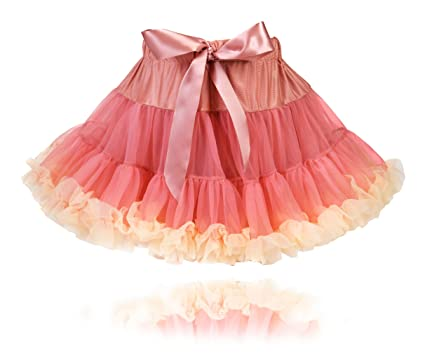 30aed1c4d5 Fairy Princess Couture Party Pettiskirt Tea Pink Cream Trim: Amazon.co.uk:  Clothing