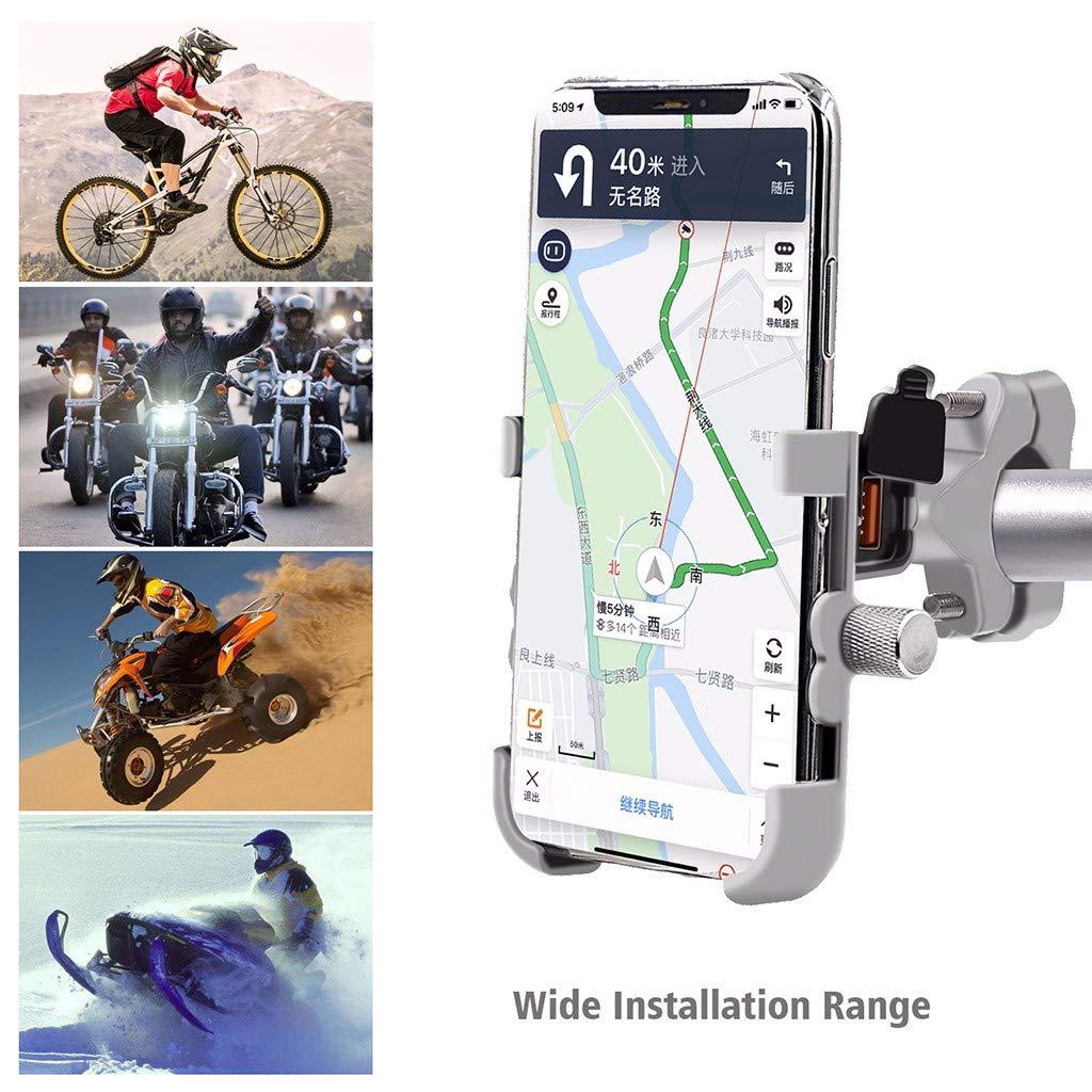Fast Wireless Charger Anti-Shake Fahrrad Handy Halterung Universal f/ür iPhone Samsung Huawei Jamicy/® Handyhalterung Fahrrad Aluminium Handyhalter f/ürs Fahrrad Motorrad mit 360 Drehen Schwarz