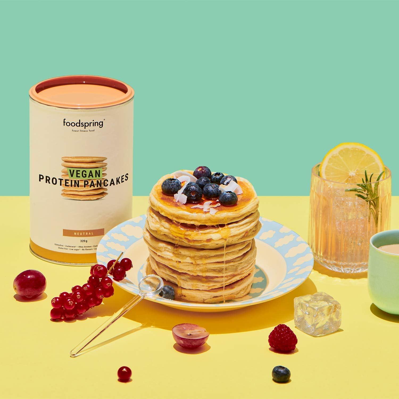 foodspring Tortitas Proteicas Veganas, 480g, Desayuno sin ...
