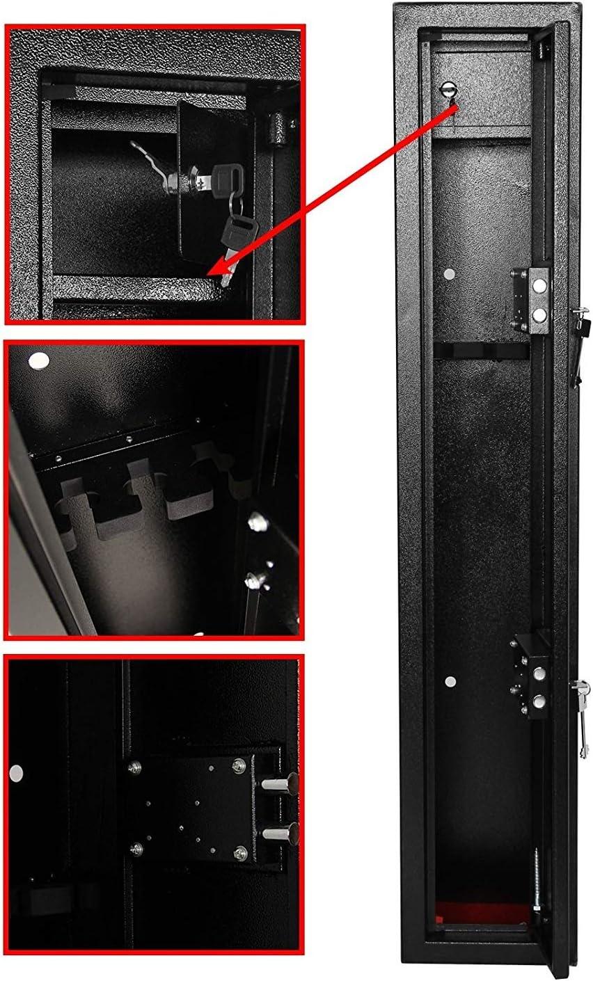 PetHot Armoire de Rangement pour Fusil de Chasse avec bo/îte /à munitions int/érieure
