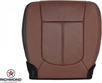2011 2012 Ford F350 Lariat Driver Side Bottom Perforated Leather Seat Cover TAN