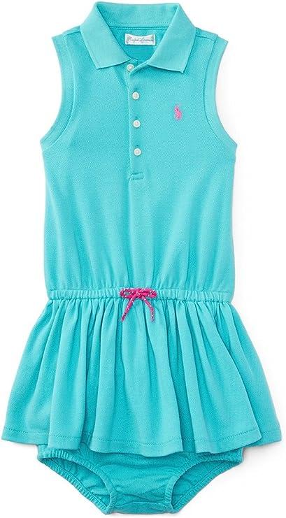 Ralph Lauren vestido tipo polo sin mangas para niñas bebés, color ...
