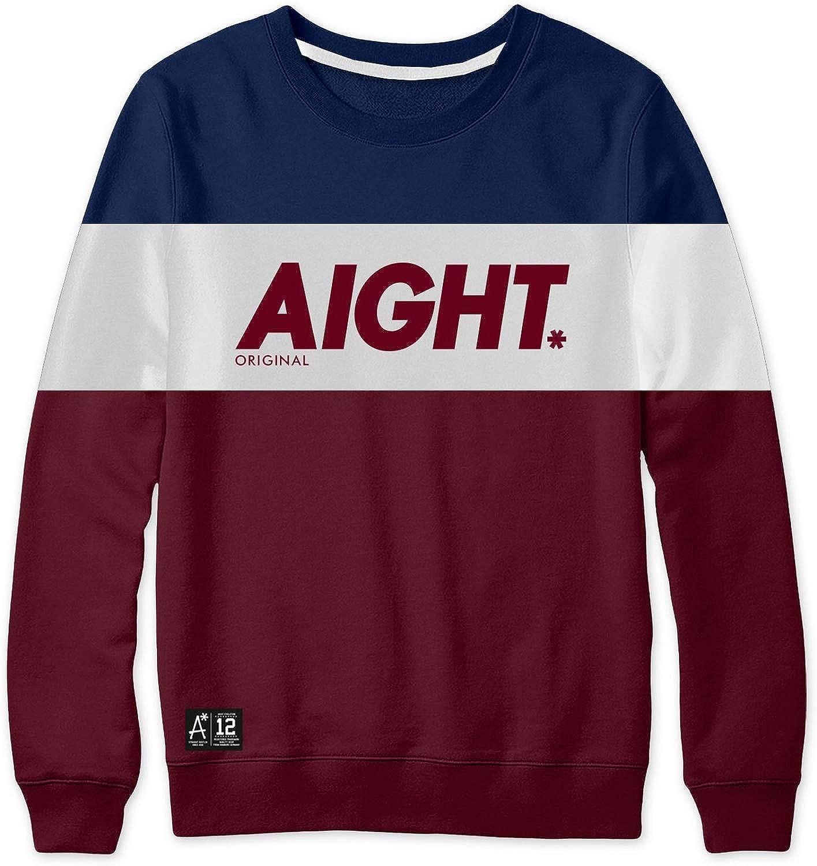 Aight - 3 Tone Sweatshirt - Navy Weiß Maroon