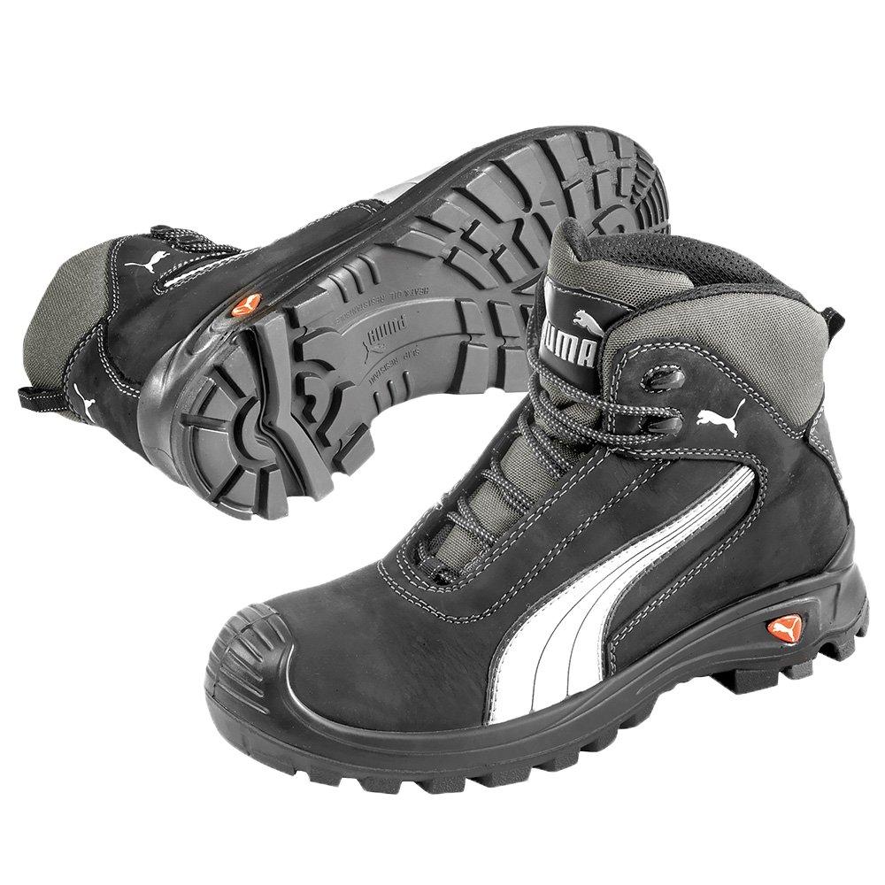 Puma Safety Shoes Cascades Mid S3 HRO SRC, Puma 630210-202 Unisex-Erwachsene Sicherheitsschuhe, Schwarz (schwarz/weiszlig; 202), EU 43  43