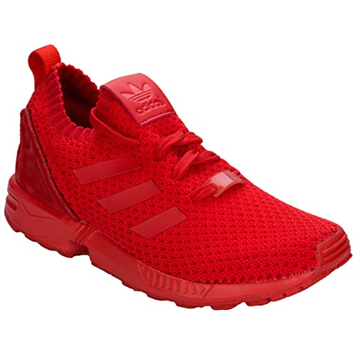 20790d433 adidas Girls Originals Junior Girls Prime Knit ZX Flux Trainers in Red - UK  4