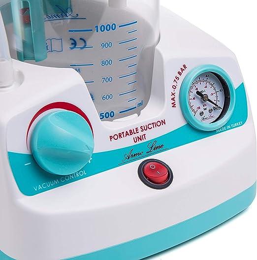 Aspirador Quirurgico de secreciones portátil aspiración 15 litros: Amazon.es: Salud y cuidado personal