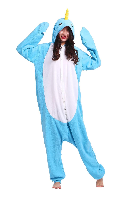 YUWELL Kigurumi Pigiama Unisex Adulto Animale Cosplay Halloween Animale Onesies Homewear Pigiama Costume