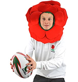 Ladies Red /& White England Wig Football Rugby Six Nations English Fancy Dress