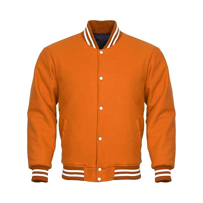 Amazon.com: Diseño personalizado chaquetas Letterman Varsity ...