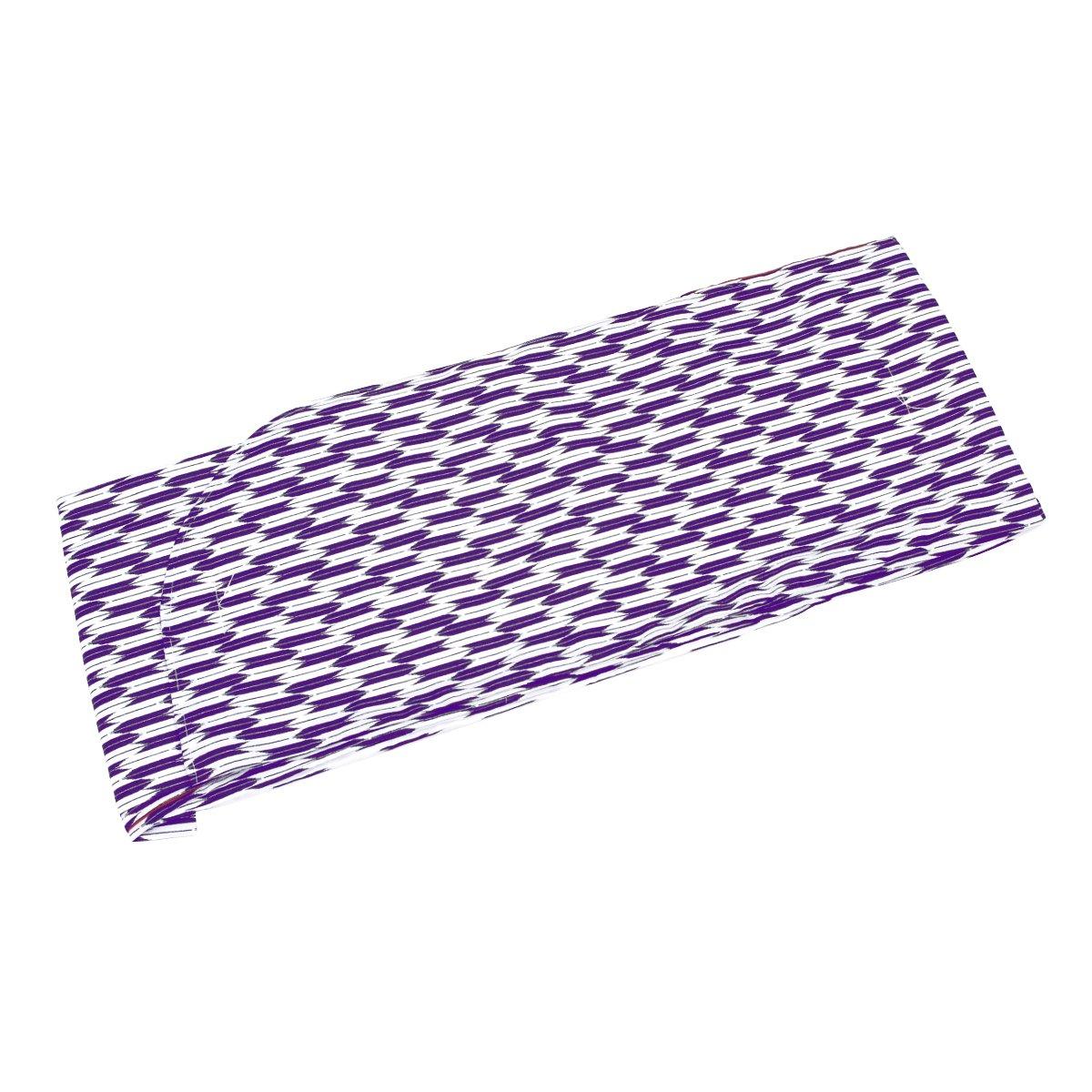 (キョウエツ) KYOETSU はいからさん 二尺袖着物 矢羽根/矢絣 単品 B06XFYHS9F M|紫(小矢絣) 紫(小矢絣) M