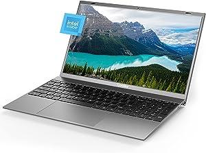 Windows Laptop 15.6 inch 8GB RAM DDR4 256GB M.2 SSD Notebook Computers, Intel J4115Quad-Core Computer Laptop, 1080P IPS Windows10 Pro PC Laptops, Full Size Keyboard