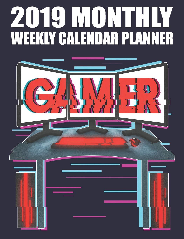 2019 Monthly Weekly Calendar Planner: Vintage Video Gamer ...