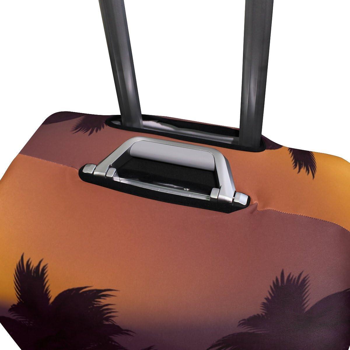 OREZI 3D Island Palm Tree Luggage Protector Suitcase Cover 18-32 Inch