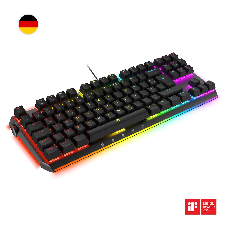 DREVO BladeMaster TE 88K - Teclado mecánico de diseño alemán RGB Gaming: Amazon.es: Electrónica