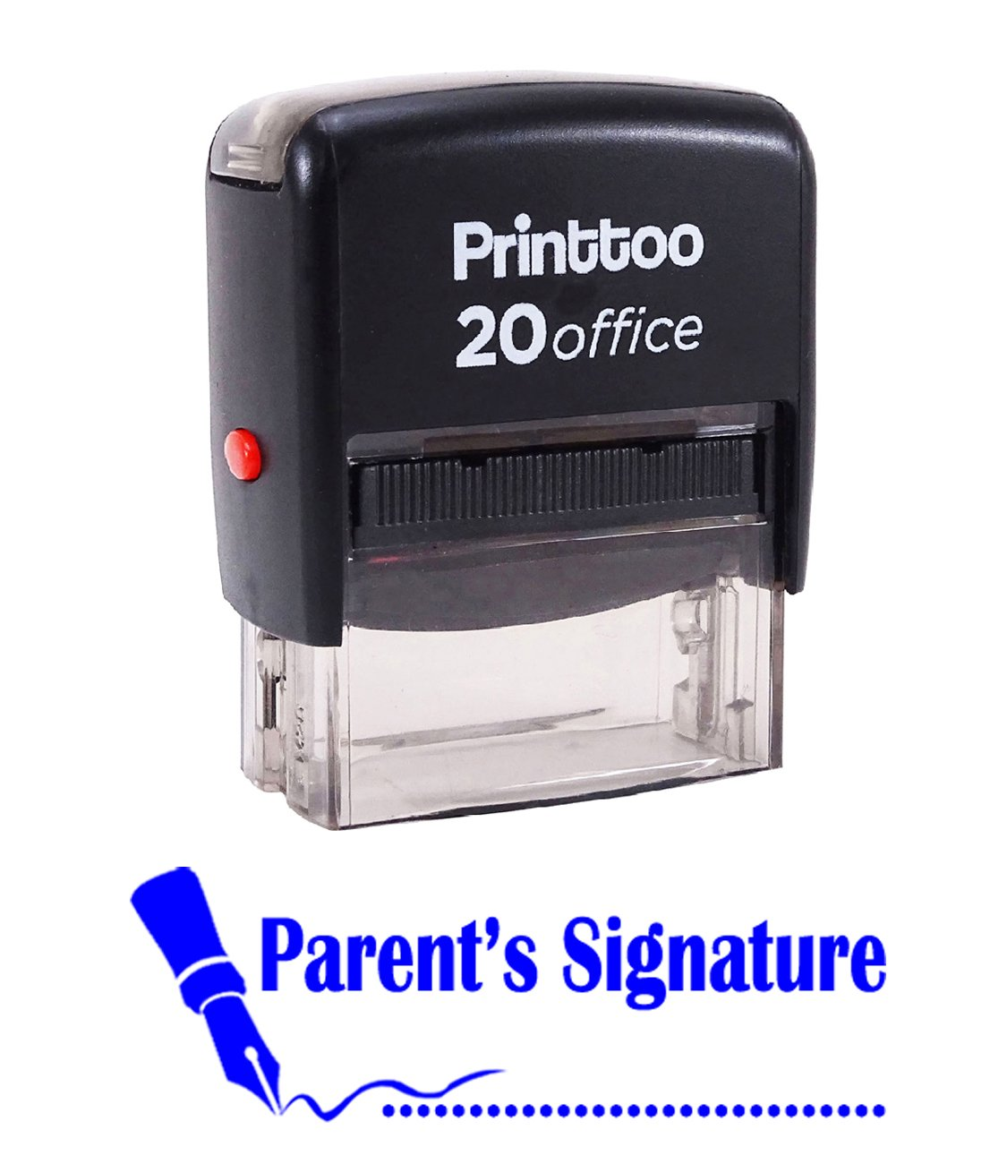 Printtoo Self Inking Rubber Stamp PARENTS SIGNATURE Office Stationary Custom Stamp-Blue