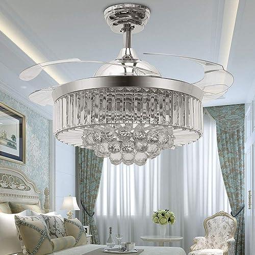 TiptonLight Modern Crystal Ceiling Fan