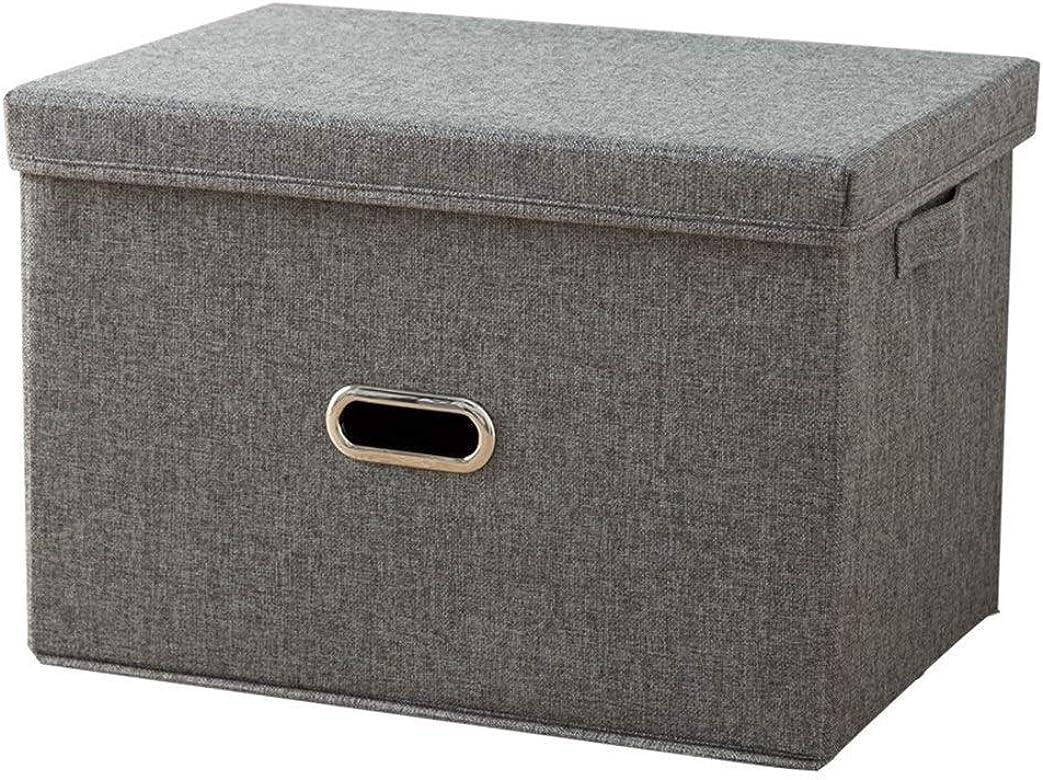 GSAGJsnh Caja de almacenamiento Tela, tapa Caja de almacenamiento Ropa interior Libros Caja de almacenamiento Dormitorio junto a la cama Caja de almacenamiento Caja a prueba de polvo (color: Gris, Tam: Amazon.es: