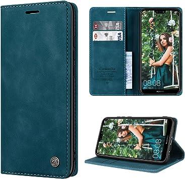 RuiPower pour Coque Huawei P20 Lite Cuir Etui Huawei P20 Lite Housse Premium PU Portefeuille [Magnétique] [Porte Cartes] [Stand Fonction] Protection ...