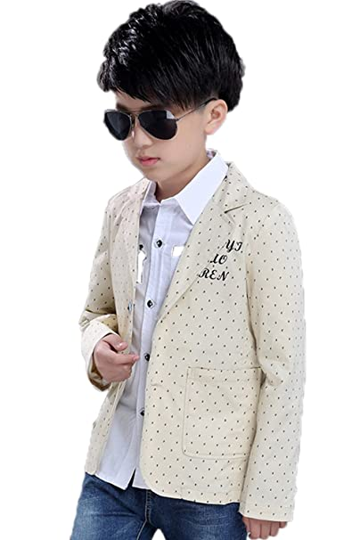 26bea8078 Amazon.com  Boys  Fashion Suit Pocket Blazers Casual Jackets for ...
