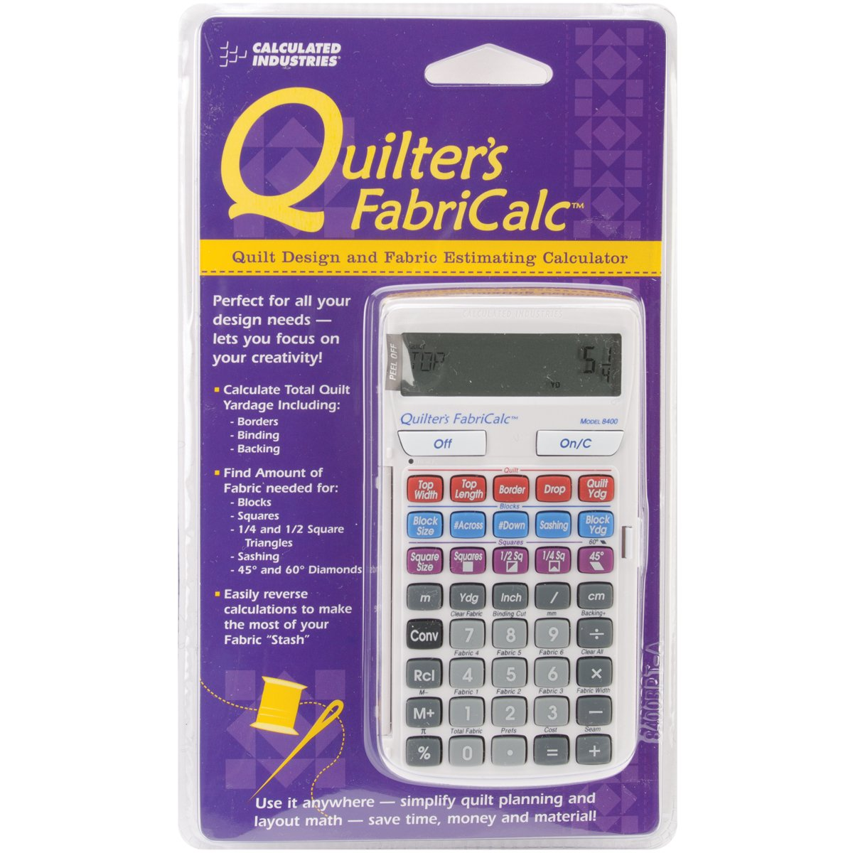 Calculated Industries Quilter's FabriCalc Quilt Design and Fabric Estimating Calculator by Calculated Industries