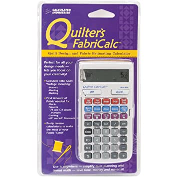 Amazon.com: Calculated Industries Quilter's FabriCalc Quilt Design ... : quilt fabric calculator - Adamdwight.com
