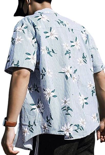 HTOOHTOOH Men Fashion Casual Shirt Short Sleeve Button Down Shirts Dress Shirt