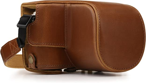 E-PL9 14-42mm MegaGear Ever Ready Leather Camera Case Compatible with Olympus Pen E-PL10