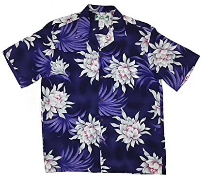 3d9da9ff5e Two Palms Mens Night Blooming Rayon Shirt Royal at Amazon Men's ...
