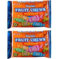 Tootsie Fruit Chews Assorted Fruit Rolls -- Pack of 2 Bags (11.66 Oz Total) (Pack of 2) - SET OF 2