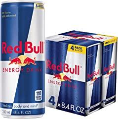 Red Bull Energy Drink, 8.4 Fl Oz (pack of 4)